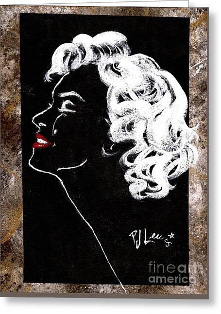 Marilyn's Spotlight Greeting Card by P J Lewis
