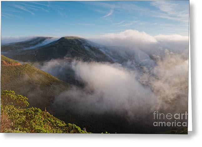 Marin Headlands Fog Rising - Sausalito Marin County California Greeting Card
