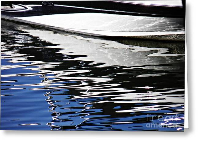 Marina Abstract 1 Greeting Card by Sarah Loft