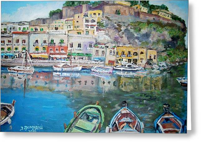 Marina Corta In Lipari Greeting Card