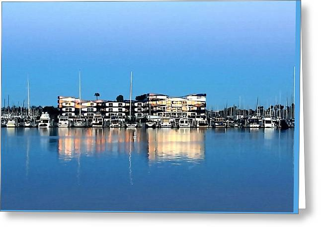 Marina Del Rey Reflections Greeting Card by Art Block Collections
