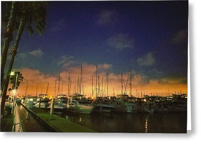 Marina Del Rey Sunset  Greeting Card by Meysam Turner