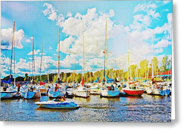 Marina In The Summertime Greeting Card