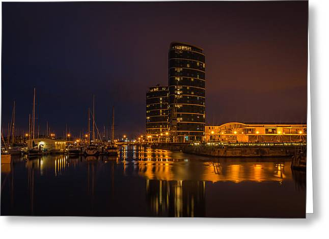 Greeting Card featuring the photograph Marina by Ryan Photography