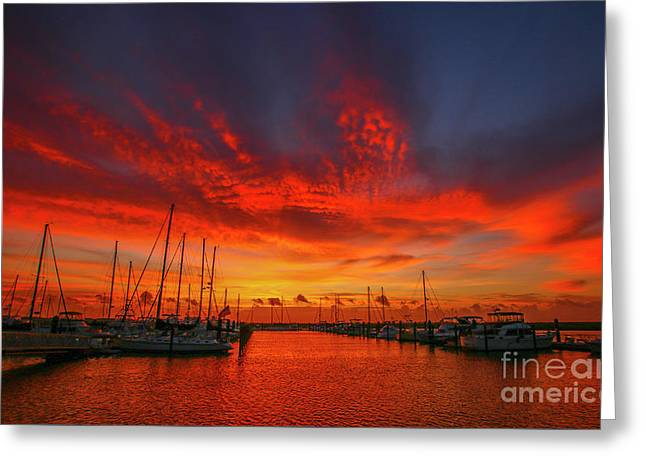Marina Sunrise - Ft. Pierce Greeting Card