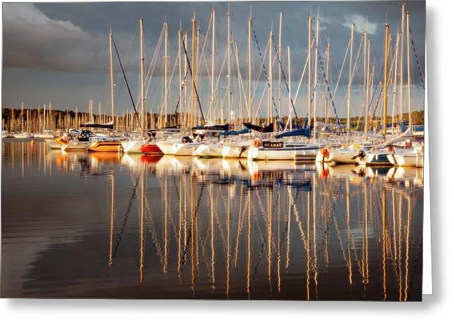 Marina Sunset 6 Greeting Card