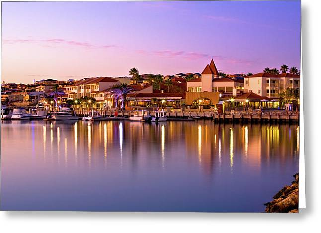 Marina Sunset, Mindarie Greeting Card
