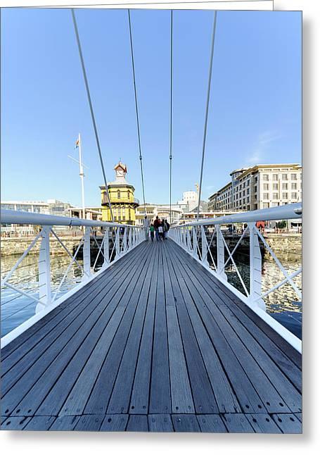 Marina Swing Bridge, Cape Town, South Africa Greeting Card