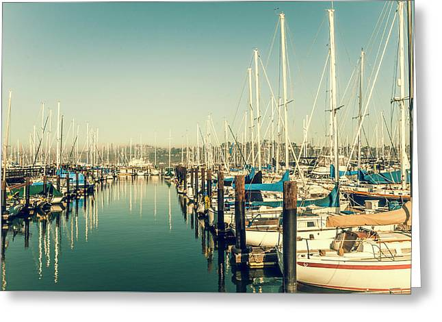 Marinaside Sausalito California Greeting Card