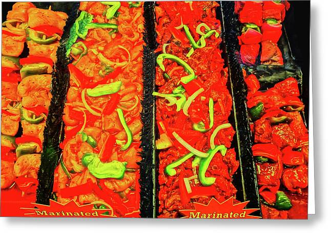 Marinated 3 Greeting Card by Bruce Iorio