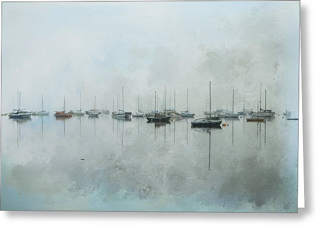In The Misty Morning Greeting Card
