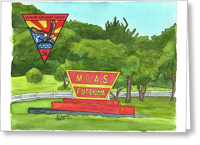 Marine Aircraft Group At Mcas Futenma Greeting Card