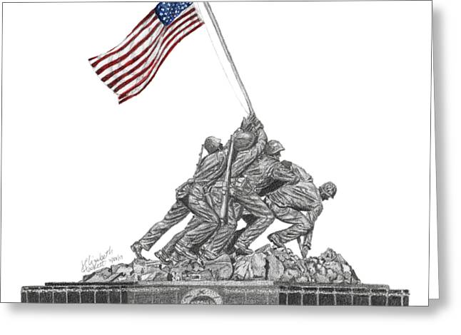 Marine Corps War Memorial - Iwo Jima Greeting Card