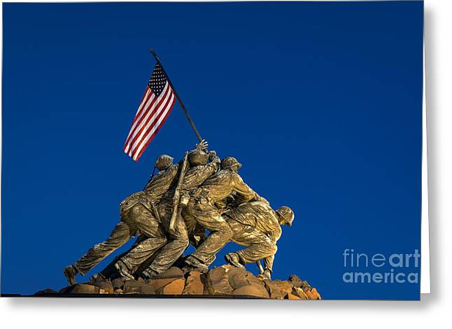 Marine Corps War Memorial Greeting Card by John Greim
