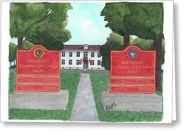Marine Forces Europe And Marine Forces Africa Greeting Card