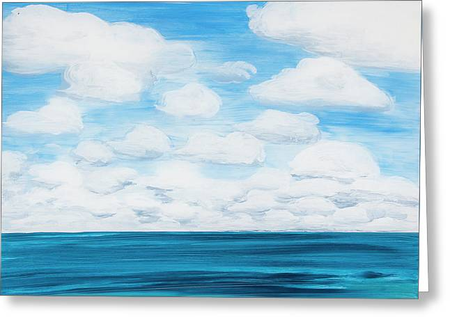 Marine Layer Breaking Up Greeting Card