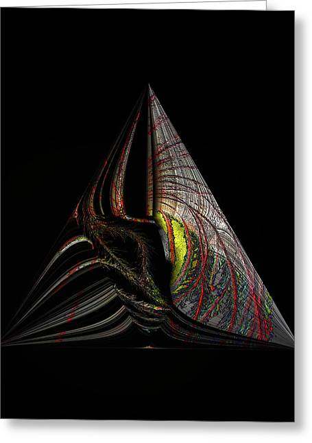 Greeting Card featuring the digital art Marine Life Abstract 3 by Irma BACKELANT GALLERIES