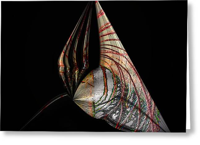Greeting Card featuring the photograph Marine Life Abstrat 2 by Irma BACKELANT GALLERIES