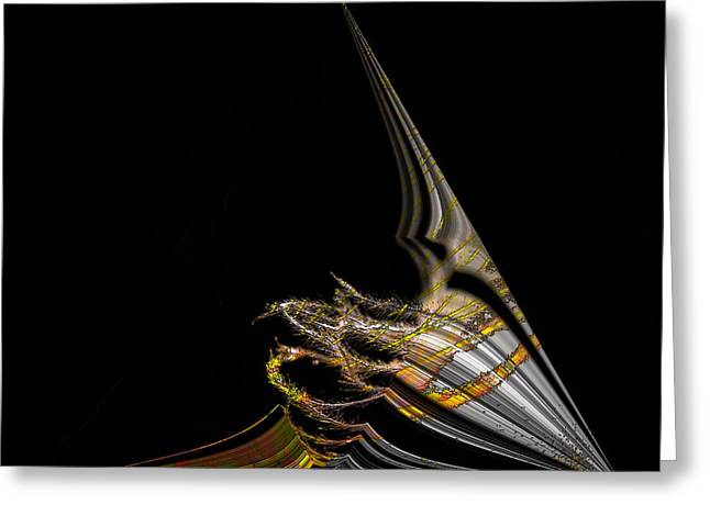Greeting Card featuring the digital art Marine Life Abstrat1 by Irma BACKELANT GALLERIES