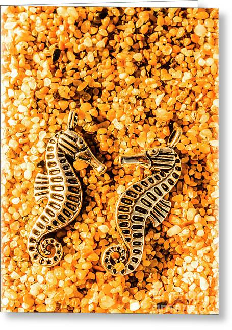 Marine Seahorse Ocean Charms Greeting Card by Jorgo Photography - Wall Art Gallery