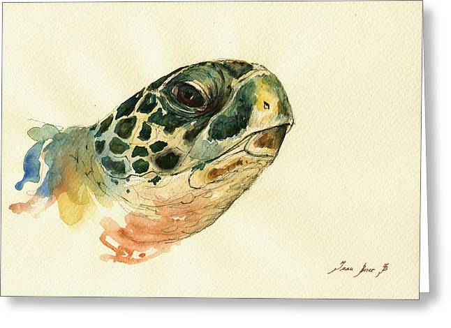 Marine Turtle Greeting Card