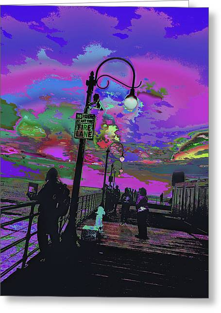 Marine's Silhouette 2 Greeting Card by Kenneth James