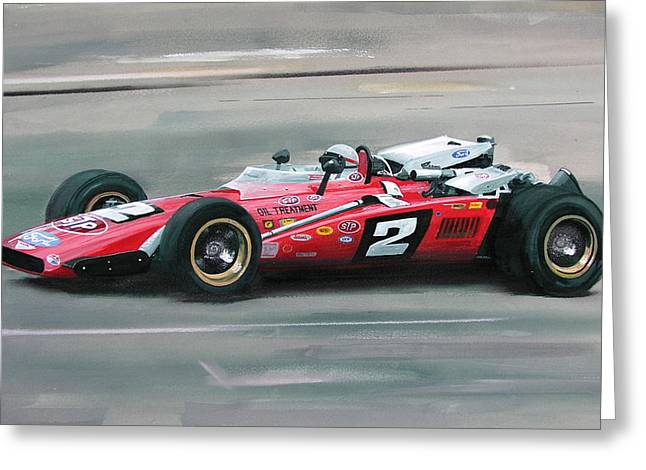 Mario Andretti Indy 500 Winner Greeting Card