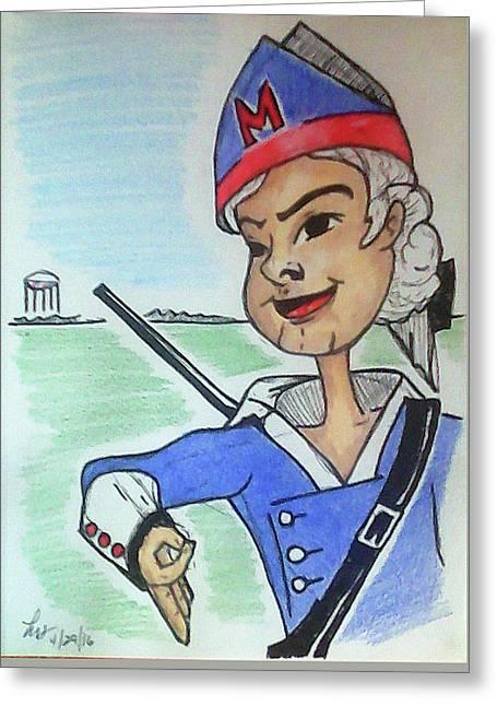 Marion Jr Greeting Card by Loretta Nash