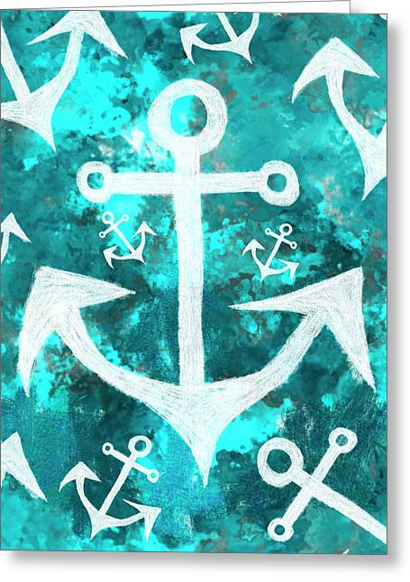 Maritime Anchor Art Greeting Card