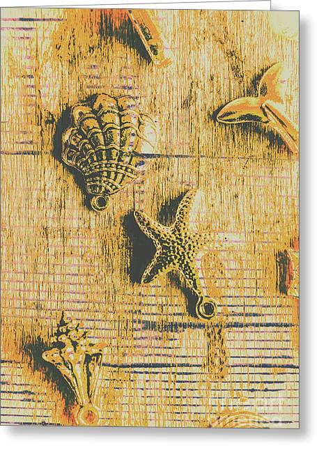 Maritime Sea Scroll Greeting Card