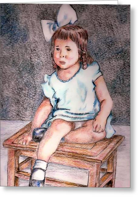 Marjorie Greeting Card by Denny Phillips