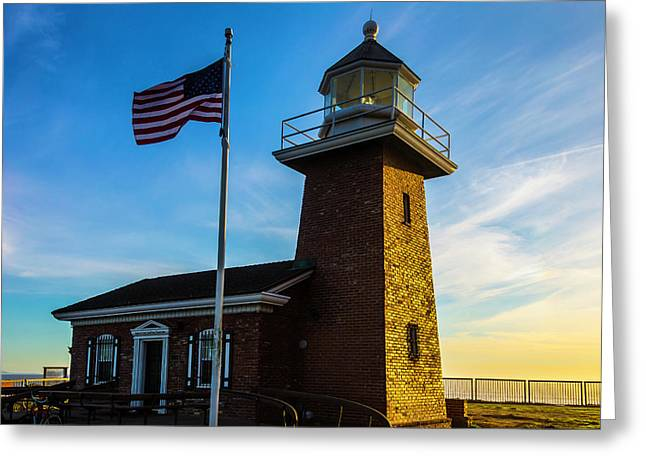 Mark Abbott Memorial Lighthouse Greeting Card