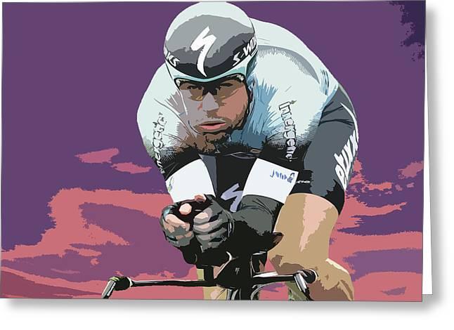 Mark Cavendish Digital Art 3 Greeting Card