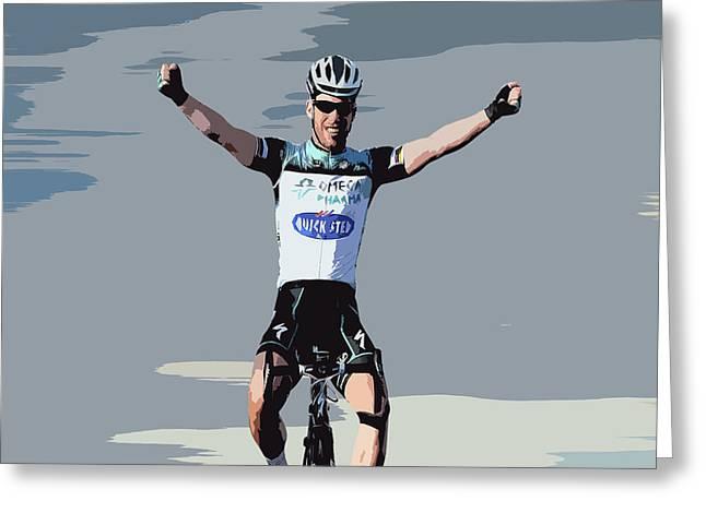 Mark Cavendish Digital Art Greeting Card