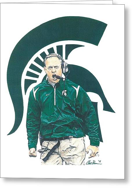 Mark Dantonio Greeting Card