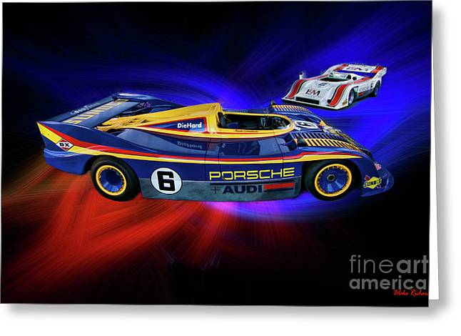 Mark Donohue And George Follmer Porsche Greeting Card by Blake Richards