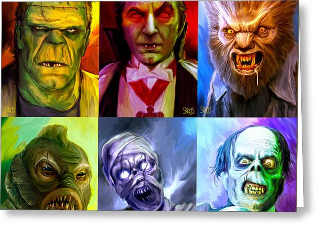 Mark Spears Monsters Group Greeting Card by Mark Spears