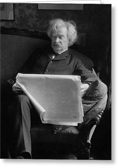 Mark Twain - American Author And Humorist Greeting Card by War Is Hell Store