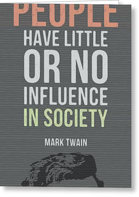 Mark Twain Inspirational Quote, Clothes Make The Man Greeting Card by Pablo Franchi