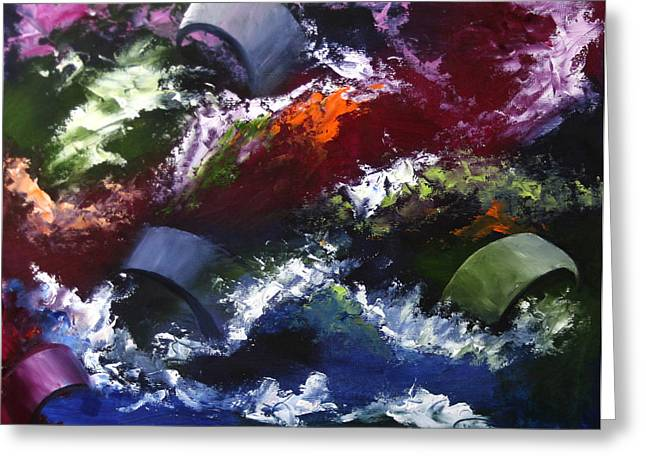 Greeting Card featuring the painting Mark Webster - Abstraction 1 by Mark Webster