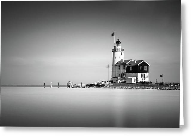 Marken Lighthouse Greeting Card