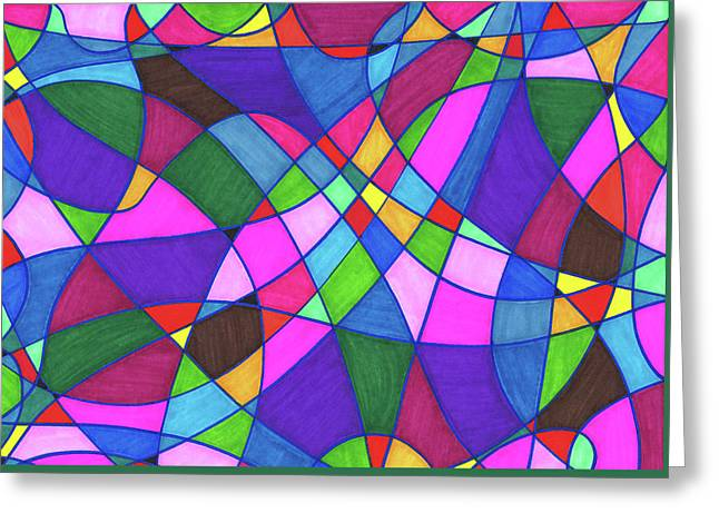 Marker Mosaic Greeting Card