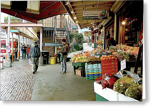 Market Alley Wares Greeting Card