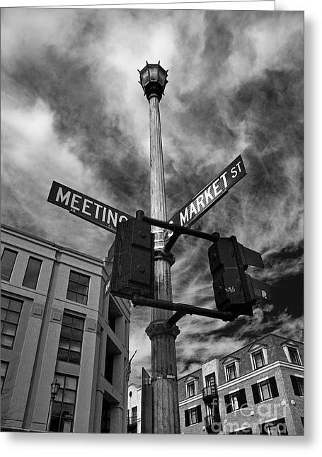 Market And Meeting Greeting Card by Wendy Mogul