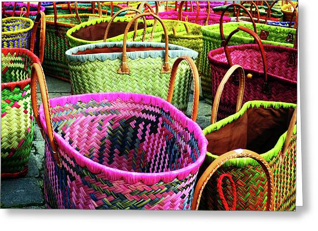 Greeting Card featuring the photograph Market Baskets - Libourne by Rick Locke