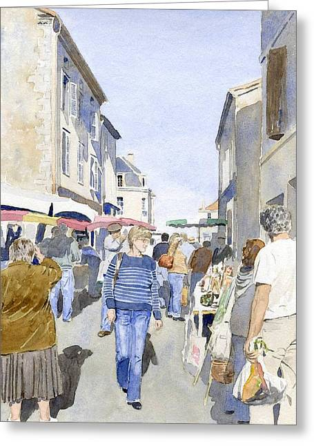 Market Day   Greeting Card by Ian Osborne