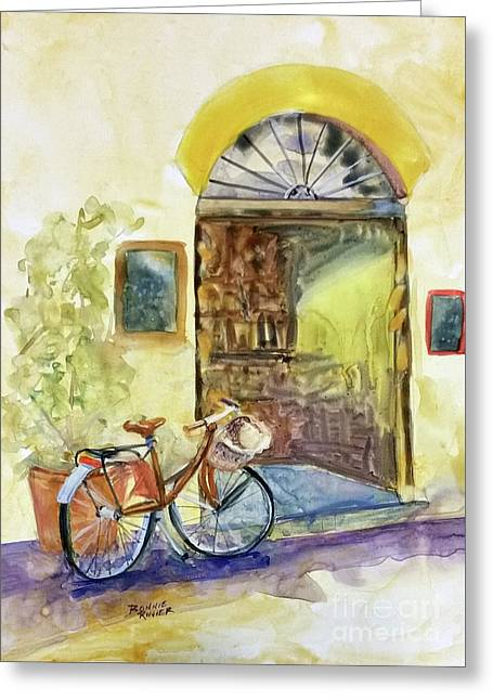 Market Day In Lucca Greeting Card by Bonnie Rinier