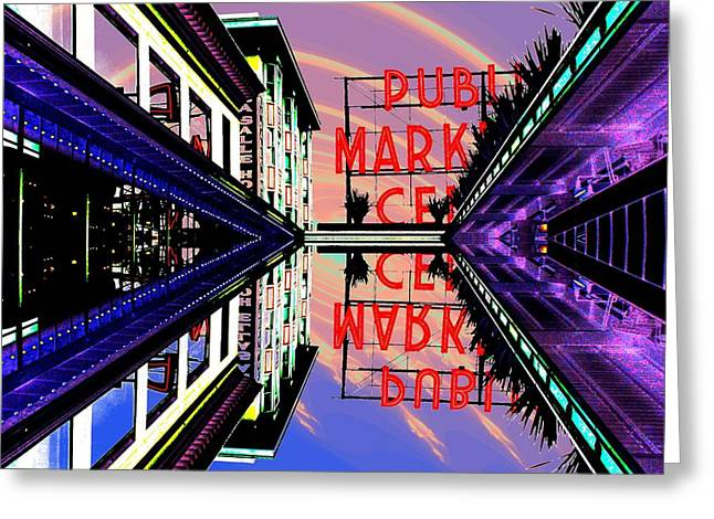 Market Entrance Greeting Card by Tim Allen