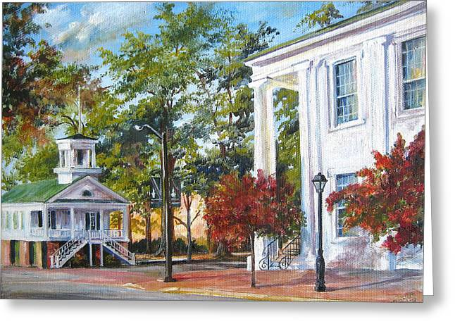 Market Hall In The Fall Greeting Card