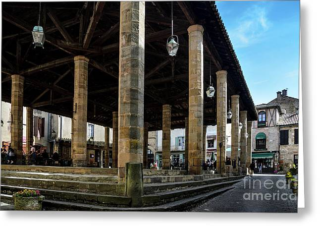 Market Hall Of Cordes-sur-ciel Greeting Card